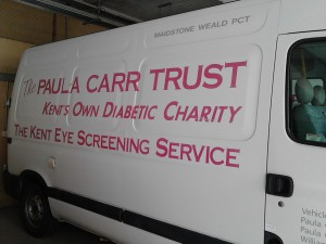One of the clinic's vans