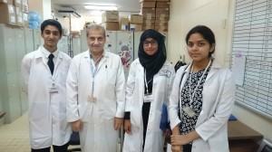 Second from the left: Dr Mohammad Anizan Second from the right: me