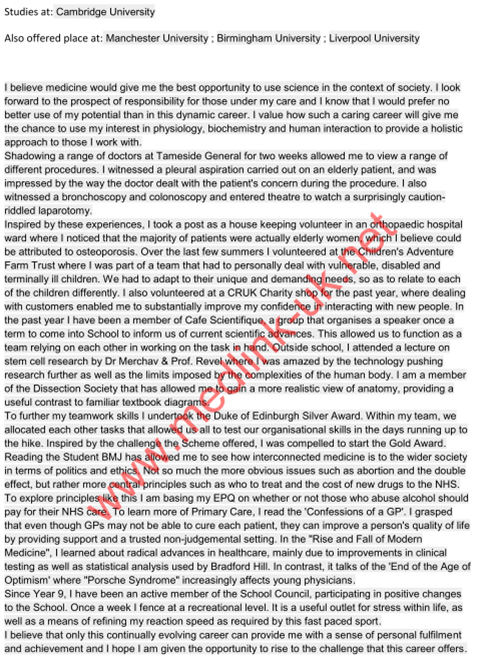 best medical school personal statement Take a glance at a personal statement sample created for medical school applicants be sure that this medical personal statement example will get you inspired.
