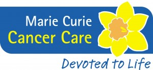 The Marie Curie charity logo.